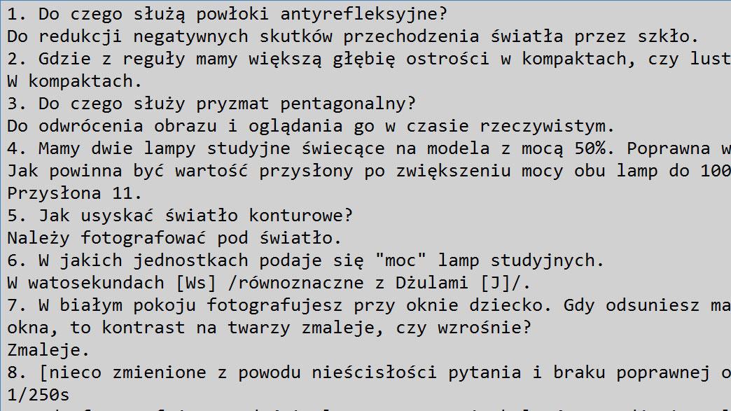 wynik quizu szymona zduńczyka